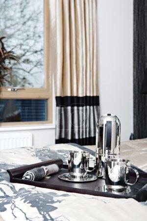 luxury bedroom tastefully decorated