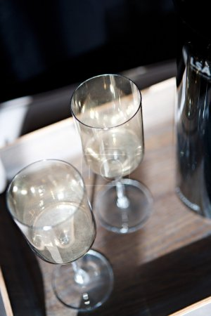 Elegant set of fine glasses for two
