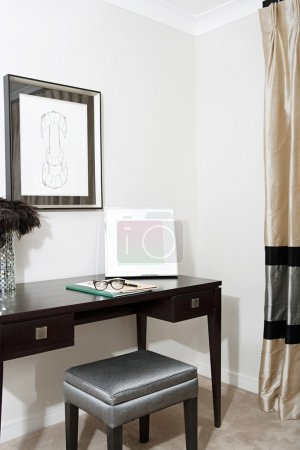 Writing desk in a luxury hotel room