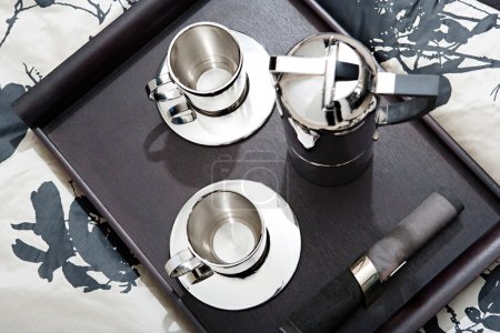 Silver set of coffee for two
