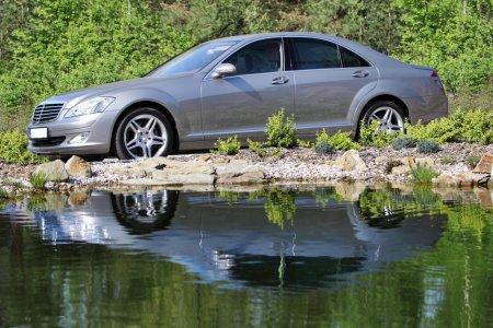 Silver Mercedes Benz