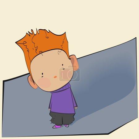 cute little boy with curls