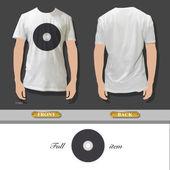 CD inside a white shirt Vector illustration