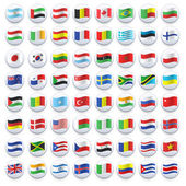 Collection of flag button design Vector design