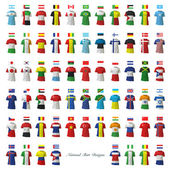 Collection of national shirt design Vector design