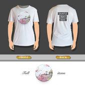 Funny world printed t-shirt Vector design