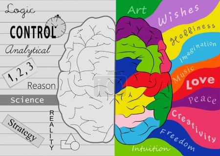 Photo pour Créativité du cerveau - image libre de droit