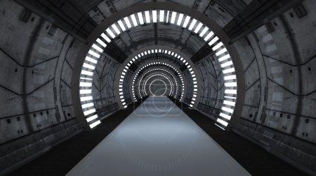 Foto de Diseño en 3D. scifi interior futurista - Imagen libre de derechos