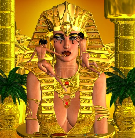 Photo pour C'était une force avec laquelle il fallait compter, une reine qui régnait comme un roi mais qui ornait son visage de perfection. Elle a suscité un amalgame confus d'émotions chez ses sujets . - image libre de droit