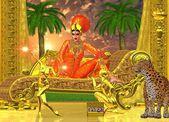 Egyptský královská relaxace na achaise salonek a bytí bavilo
