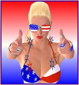 Samantha Wants You! Like uncle Sam, only considerably more attractive, this fun loving blond points her fingers at you and is ready for the party to begin.