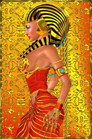 Profile of Egyptian woman Pharaoh Queen