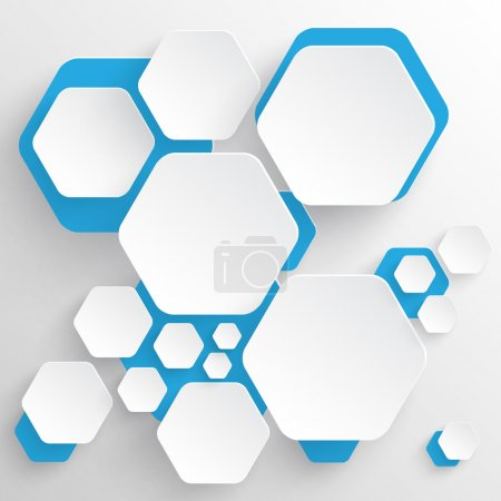 Illustration for 3d hexagon background - Royalty Free Image