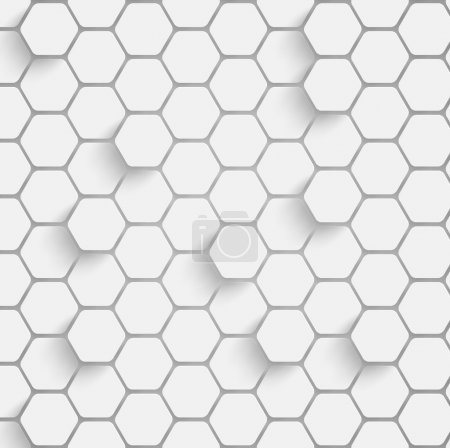 Illustration for Paper hexagon background with drop shadows - Royalty Free Image