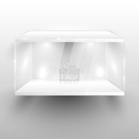 3d Empty glass showcase