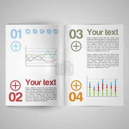 Blank vector magazine paper...