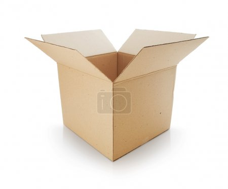 Photo for Cardboard box on white background - Royalty Free Image