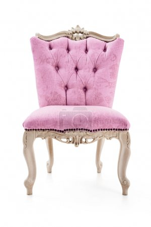 Pink vintage luxury armchair