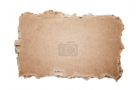 Photo for Piece of cardboard on white background - Royalty Free Image