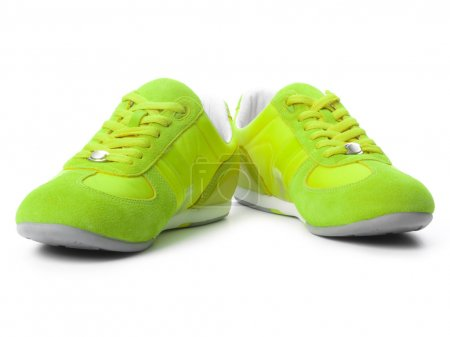 Photo for Green sneakers - Royalty Free Image