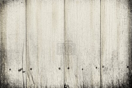 Photo for Old wooden plank texture with vignettes - Royalty Free Image