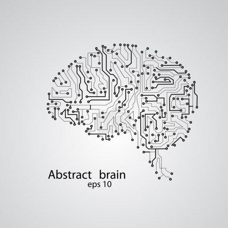 Illustration pour Circuit board brain eps 10, illustration vectorielle - image libre de droit