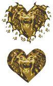 Gold lion heart