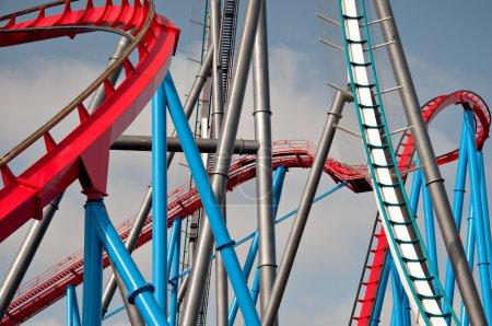 Photo pour Roller coaster en Huelva, Espagne - image libre de droit