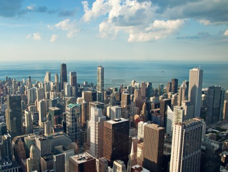 Chicago city view from Willis Tower, USA