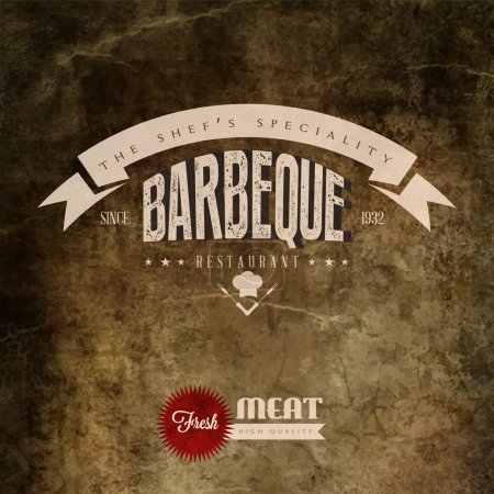BBQ Grill restaurant label