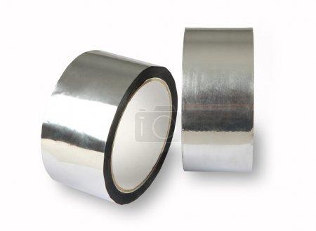 Aluminium adhesive tape, metal-foil adhesive tape, photo of two
