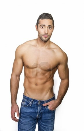 Male model with muscular body