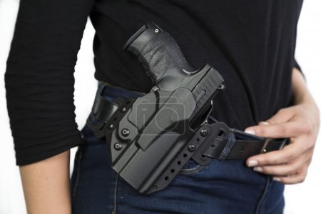 Gun in a holster