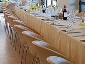 Dlouhé restaurace tabulka připravené
