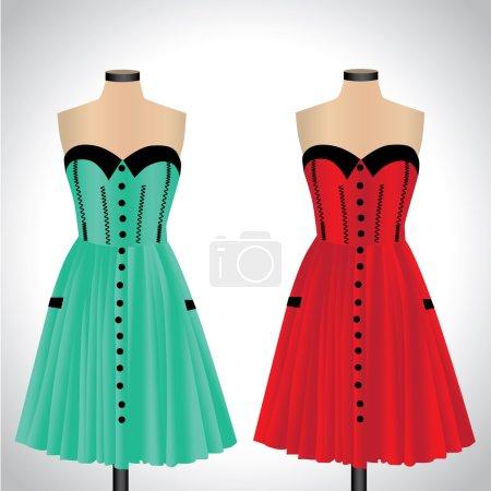 Classic women's plain dresses