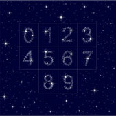 The numbers of stars