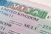 Velká Británie vízum v pase