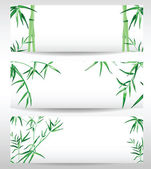 3 bamboo banners