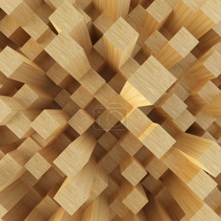 Photo for Abstract image of cubes background. 3d render illustration. - Royalty Free Image