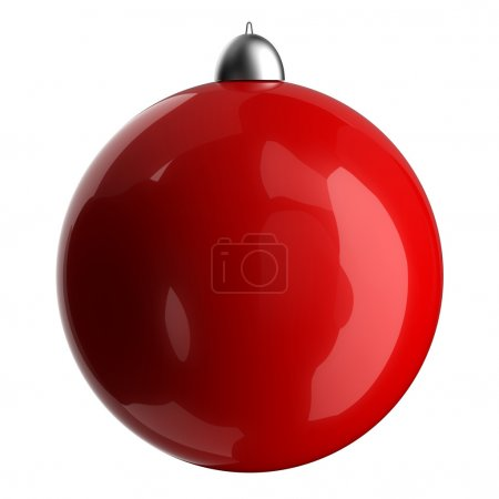 3D red christmas ball classic.