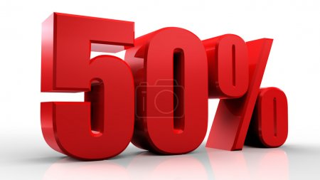 3D знак 50 процентов