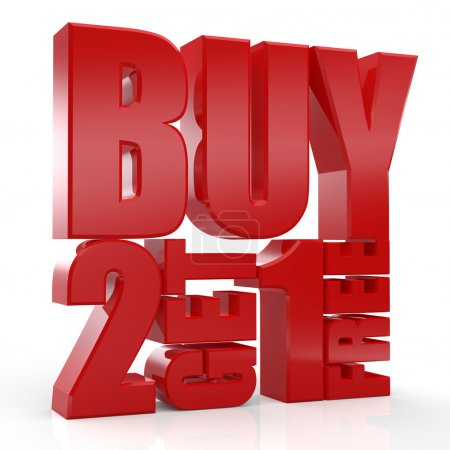 3D Buy 2 Get 1 Free text