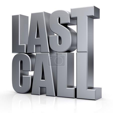 3d Last Call text