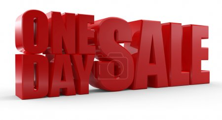 3D One Day Sale text