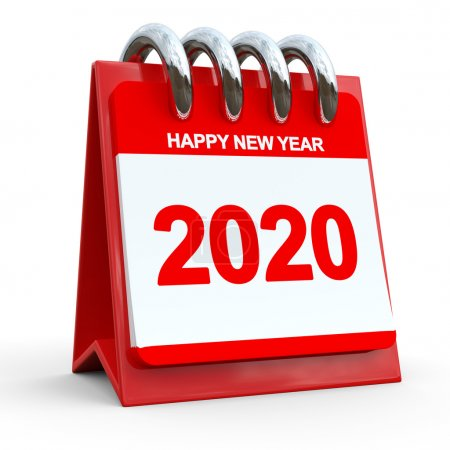 3D Red Calendar 2020