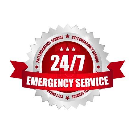 24-7 Service button
