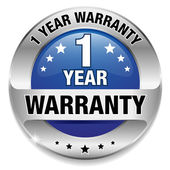 1 year warranty button