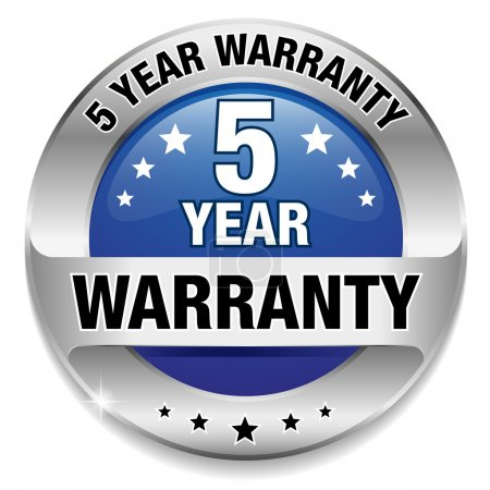 5 year warranty button