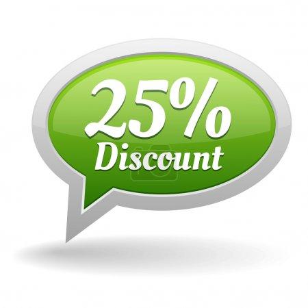 25 percent off speech bubble
