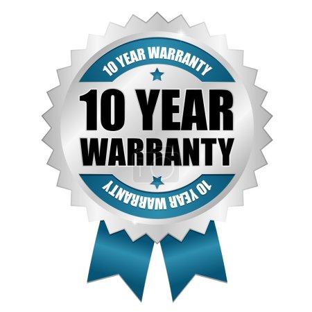 10 year warranty seal